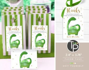 DINOSAUR Favor Tag, DINOSAUR Gift Tags, Dinosaur Printable, Dinosaur Thank you Tags, Dinosaur favour tag, Dinosaur Party, Dinosaur, 0202