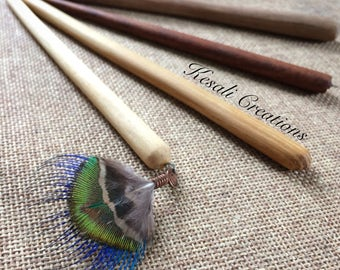 Hand Carved Wooden Hairsticks