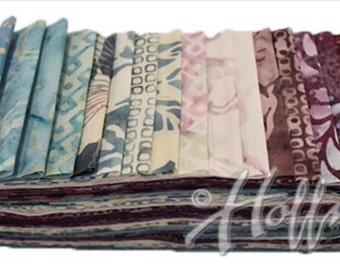 "Bali Poppy ""Rose Quartz"" by Hoffman Fabrics-20 strips of 2 1/2"" fabric strips -jelly roll - BPP-233 - hand dyed fabric,  batik fabric"