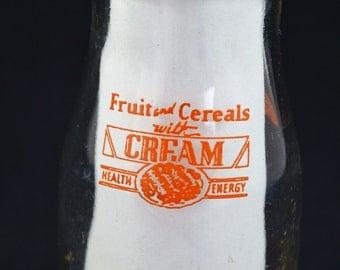Vintage Milk Jar, Wayside Dairy Of Belgium Wisconsin Half Pint Milk Jar