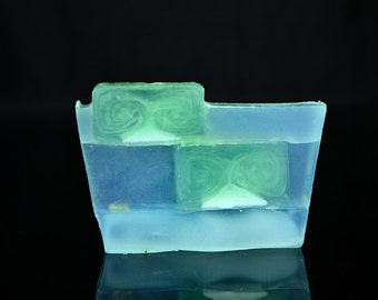 Handmade Mint Soap, Handmade Soap, Fresh Mint Soap, Homemade Soap, Glycerine Soap, Moisturising Soap