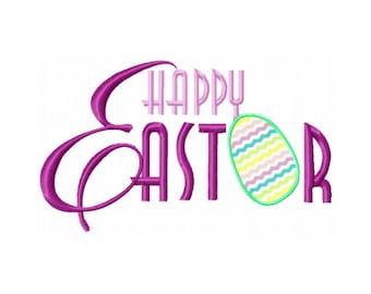 Happy Easter Applique Design - Easter Egg Applique Design - Kids Easter Embroidery Design - Easter Egg Hunt Embroidery Design