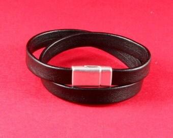 5/8 MADE in EUROPE zamak clasp,  flat cord clasp, 10mm flat cord clasp, leather cord clasp (9628-0377)