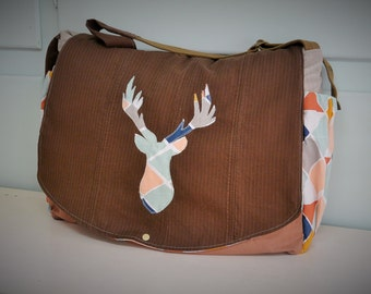 AVAILABLE! Great style Messenger Sling bag / backpack layer / deer