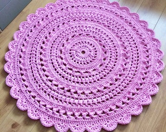 Made to order - Crochet rug - 120cm