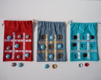 Game of Tic Tac Toe/game of Tic Tac Toe/game for child/trip/bag DrawString game