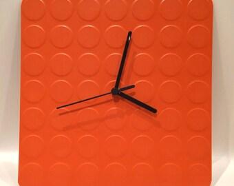 Orange Block Clock