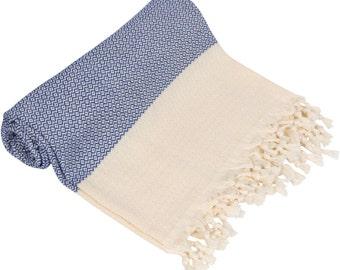 "BIG SALE 60% - COBALT Blue Peshtemal-100x180 cm / 40""x71"" - Spa Towel Turkish Towel Beach Towel Bath Towel"