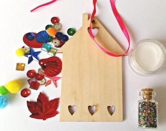 Fairy House Kit, Children's craft kit, kids activity kit, Christmas craft, stocking filler, secret santa, Christmas eve, glitter, sequins