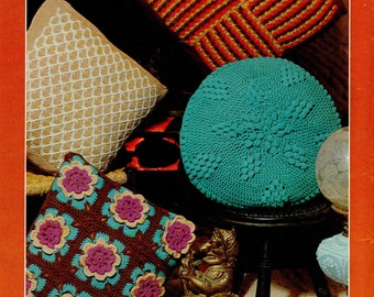 Crochet / Knitting Pattern-- Vintage cushion cover pattern 4 styles