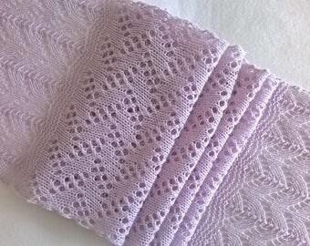 lace scarf/ lilac lace scarf/ pink scarf/ summer scarf/ wedding scarf/ wool scarf