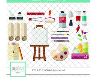 Art clipart, Palette clipart, vector graphics, Art clipart , digital clip art, digital images -  CL 138
