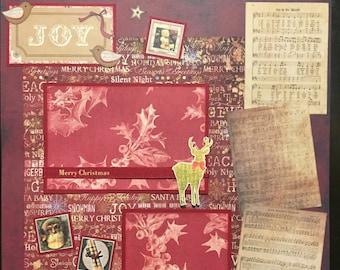 CHRISTMAS Vintage Premade 12x12 scrapbook page