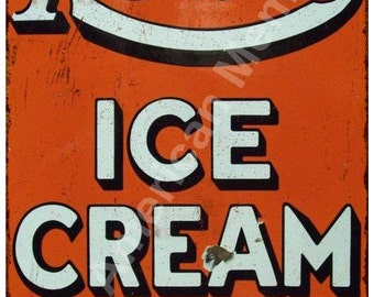 Real Ice Cream Health Food Vintage Reproduction Metal Sign 8x12 8122404