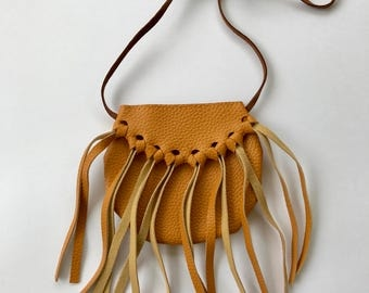 Honey Mustard Fringe Bag