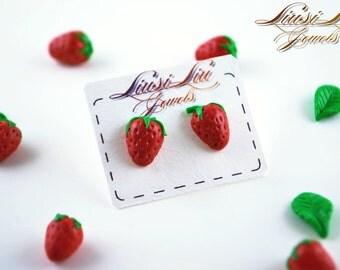 Berry earrings- strawberry earrings
