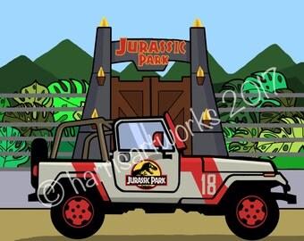 Jurassic Park Wall Art Print