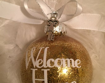 New Home Ornament, Welcome Home Ornament, Home Sweet Home, Housewarming Gift, House Ornament, Our New Home, New House Gift, Custom Ornament,