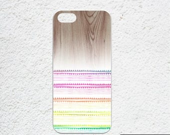 boho iPhone 7 case - Available for iPhone 6s, iPhone 6, iPhone 7 plus, iPhone SE case - wood print iphone case  - neon colors - summer trend