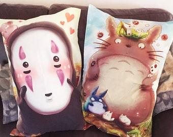 Studio Ghibli Pillowcases Totoro noface mononoke cat calcifer jiji charms posters