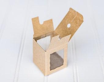 12 Kraft Cake Pop Boxes / 1 3/4 x 1 3/4 x 2