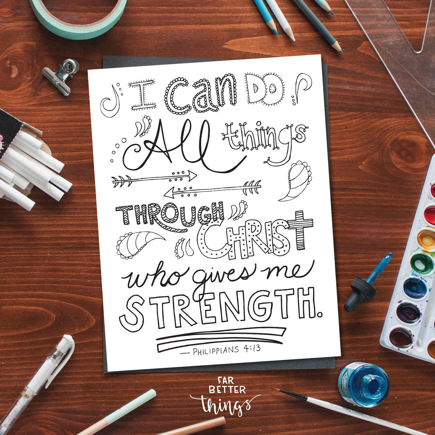 bible verse coloring page philippians 4 13 printable