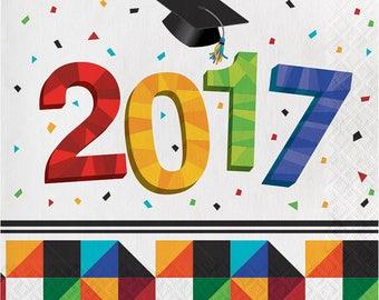 Graduation 2017 Party Supplies/Graduation 2017 Luncheon Napkins/Graduation Napkins 16 pack Class of 2017