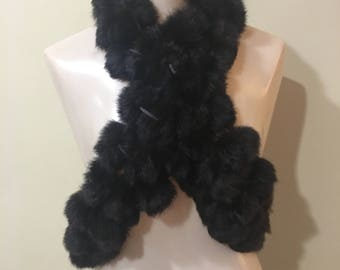 Rabbit fur Scarf/Stole
