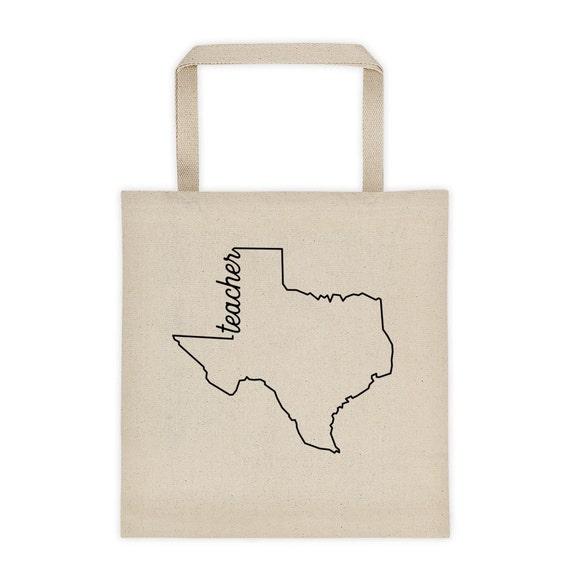 Texas Teacher Modern |  Canvas Tote Bag