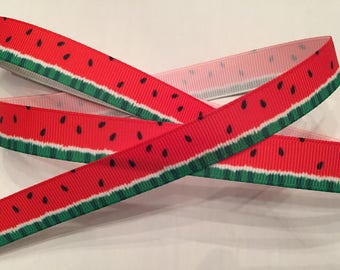 "2-2/3 Yards Watermelon 5/8"" Wide Grosgrain Ribbon"