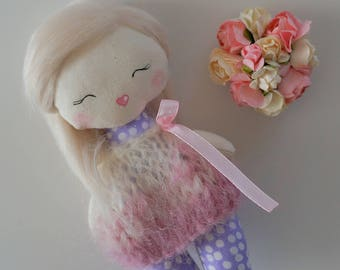 SALE Api's Dolls, OOAK doll, Mini doll, Pocket doll Handmade doll, Cloth doll, Art doll, 16 cm doll