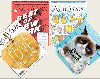 4 Miniature   'New York'   Magazines  -  Dollhouse 1/6   1/12      1/24    1/48    play scale miniature accessory