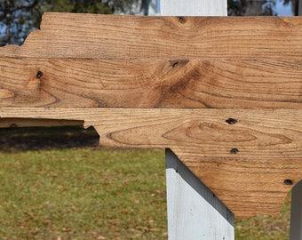 North Carolina Reclaimed Wood Cut-out