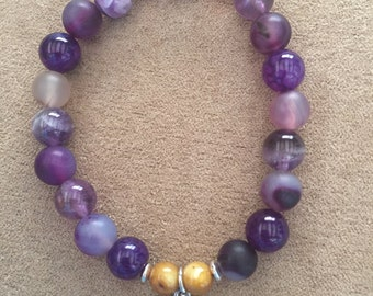 Shades of mauve bracelet