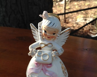 Vintage Napco June Birthday Angel 1950's Napco June Birthday Angel - Made in Japan -.