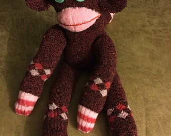 """One of a kind Hand Stitched  Sock Monkey    15"""""""