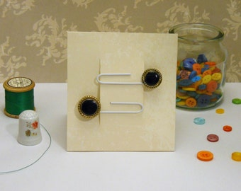 Set of two button paperclip bookmarks