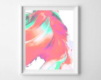 Modern Abstract Paint Swirl PRINTABLE - Colorful Abstract Wall Art - Pretty Abstract Print - Abstract Modern Print - Paint Swirl Print