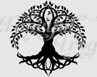 Celtic Tree - Vinyl Car Decal - Knot Knotwork