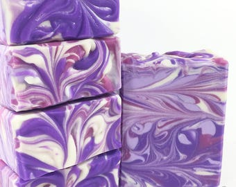 LAVENDER SOAP Homemade Soap Handmade Soap Floral Soap For Her Artisan Soap Cold Process Soap Bath and Body Flower Soap Purple Luxury Soap