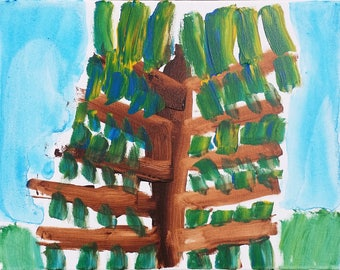 Abstract Tree on Canvas