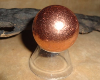 Gorgeous Solid Copper 30MM Spheres For Therapeutic and Metaphysical Meditation
