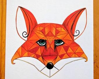 8x10 Fox Print for nursery or home