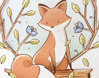 Foxes are Red and Violets Blue | Print