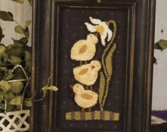 Primitive Punchneedle PATTERN - Sweet Blossom