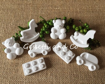 24 Chalks scented birth for favors, birth, placeholders, baptism