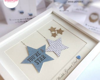 Gift for Dad at Christmas Husband Gift Father Daughter From the Kids Father Son Personalised Framed gift Unique Gifts You're a star