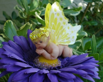 Fairy,Baby,Polymer Clay,Art,Doll,Wings,OOAk,One of a Kind,Hand Sculpted,Handmade,Fantasy,FAE,Collectible