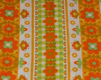 Vintage fabric fabric 70s 70s flowers funky flowers 50 x 65 cm / 19 x 25 '