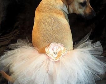 Dog wedding Dress, dog skirt,Pet Dress, Dog Tutu, Blush, Tutu,Dog Clothing, Dog Wedding,blush tutu